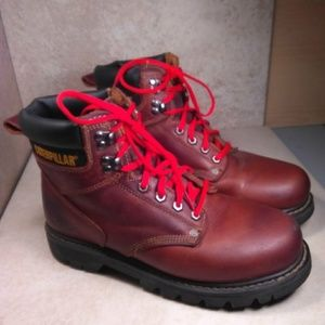 Caterpillar-Second Shift-Leather Boots - Size 9.5